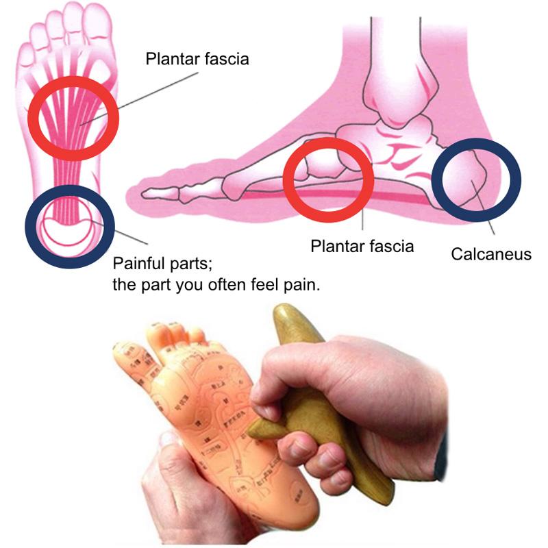 Masaje del pie en la fascia plantar