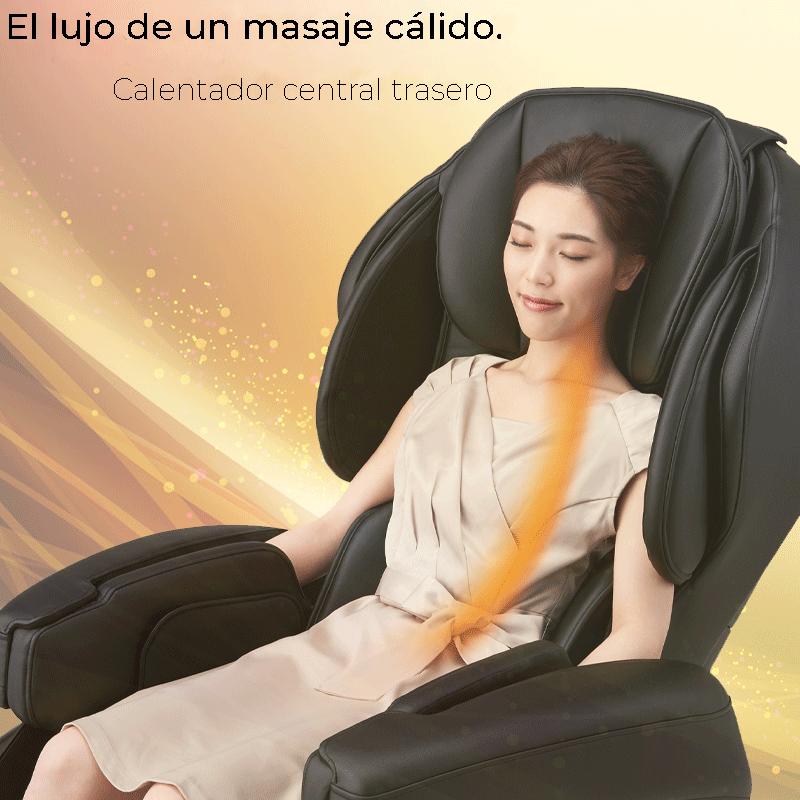 El lujo de un masaje cálido.