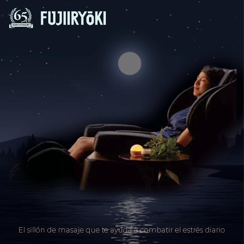 Fujiiryoki JP-2000- el sillón de masaje que te ayuda a combatir el estrés diario